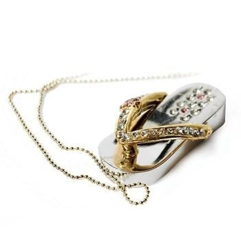 Pen Drive 1TB Jewelry Crystal Usb Flash Drive 2TB Shoes 16gb 32gb 64gb 128gb Memory Stick Pendrive Mini Usb Creativo 2.0 Gift