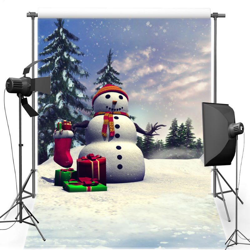 MEHOFOTO Snowman New Fabric Flannel Photography Background New Year Christmas Backdrop Vinyl For Family photo studio F1715 mehofoto night sky vinyl photography background for baby dark clouds new fabric flannel backdrop for wedding photo studio f2724