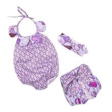 Girl Clothes Set Baby Clothing Set 3 pcs Sets Romper +Shorts + Headband Suit Floral Princess Children Clothing Set