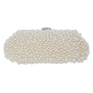 Image 3 - Women messenger beaded women vintage evening bags imitation pearl shell women bag shoulder bags,diamonds clutch bag for wedding