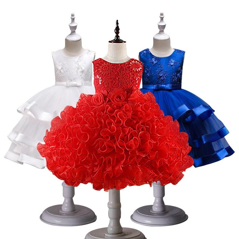 Mädchen Prinzessin Blumen Ballkleid Hochzeiten Kleid Partei ...