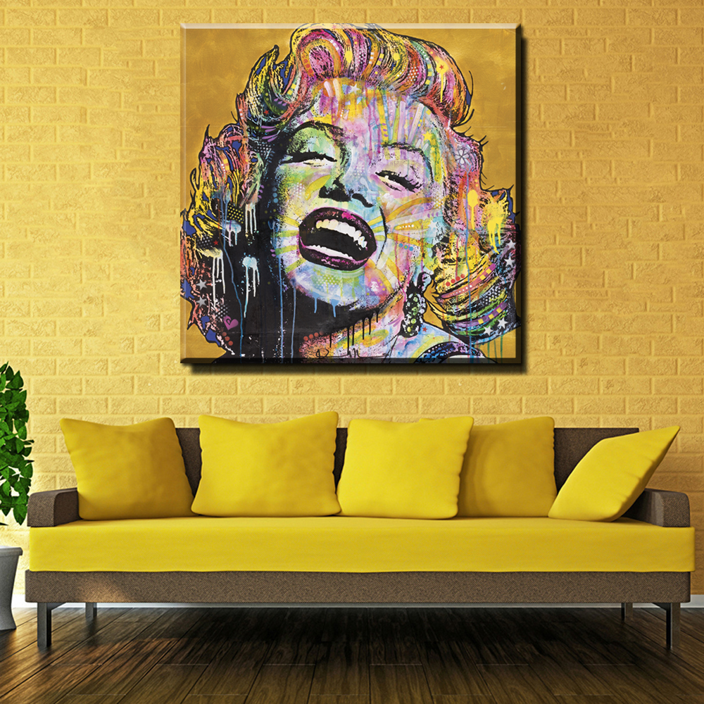XX3002 Marilyn Monroe Poster Wall Art Canvas Painting watercolor ...