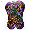 3pcs/lot Size 48*34cm Men Fake Full Back tattoo Body Art Beauty Makeup Large Budda Dragon Waterproof Temporary Tattoo Stickers