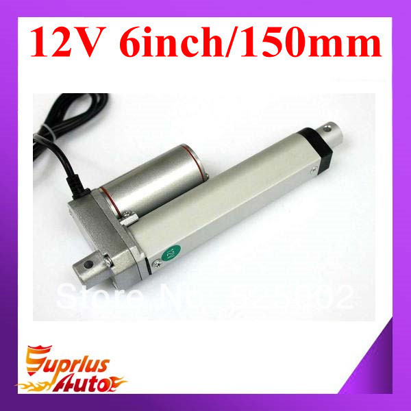 цена на 10mm/s 150mm/ 6inch stroke 900N/ 90KG/198LBS 12V DC mini linear actuator model-SL14