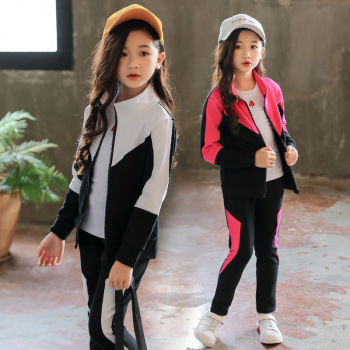Girls Clothing Set Children 2020 Spring Autumn Sports Suit Long Sleeve Girls Tracksuits for Kids Clothes 4 6 8 10 12 13 Years bibihou girls clothing set sport suit clothes navy style girls sports suits teenage kids tracksuits sportswear jumpsuit boys