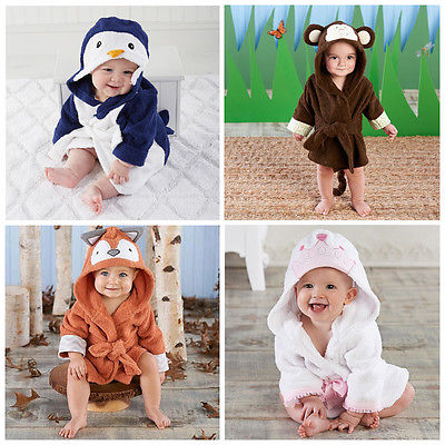 New Luvable Friends Animal Charater Square Hooded Bath Towel Set Baby Product Cartoon Baby Robe 100% Cotton Infant Bath Towels 1