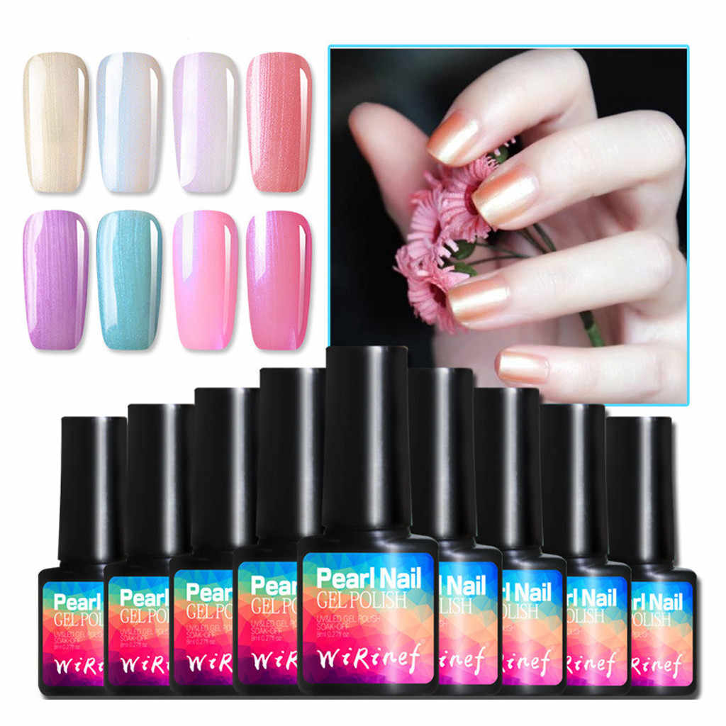 10 kleuren Gel Nagellak Pure Parel Shell Serise Nail Gel UV LED Varnish Soak Off Nail Art Lange- blijvende Pijnloos UV Gel Polish