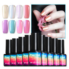 10 couleurs Gel vernis à ongles pur perle Shell Serise vernis à ongles vernis à LED UV vernis à ongles longue durée indolore UV Gel vernis(China)