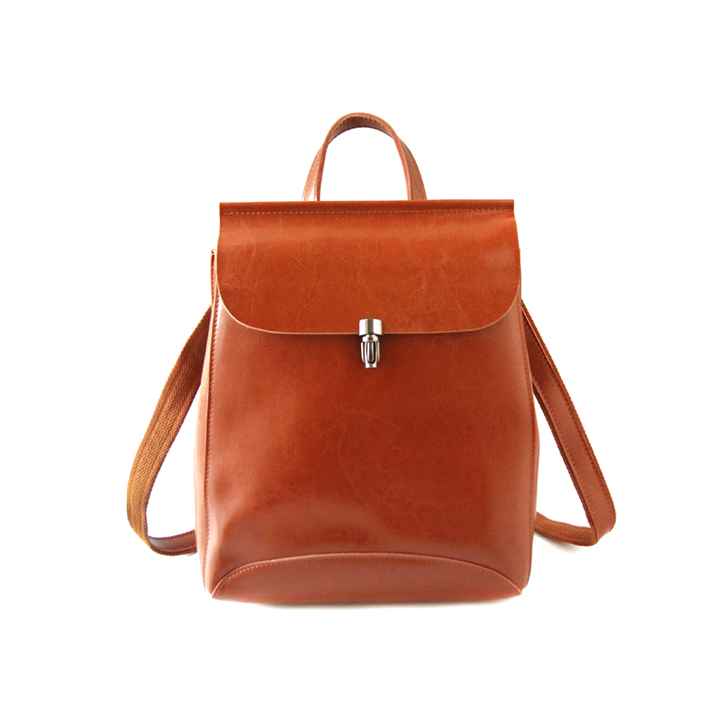 Luleez real Wax oil skin   Korean version of the fashionable school style bag retro cowhide girl backpack muti-use big capacity воск the saem style fix volume wax