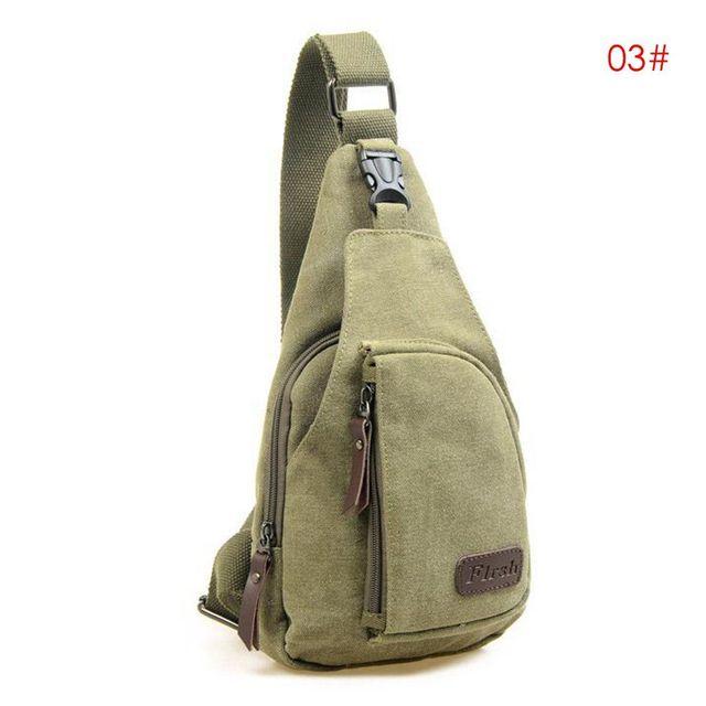 2018 Brand New Men Vintage Canvas Leather Satchel Shoulder Sling Chest Pack Bag