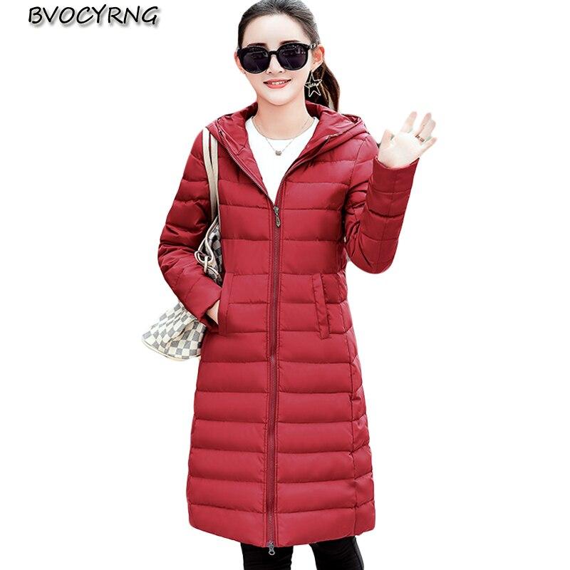 New Winter Cotton-padded Clothes Fashion Women Coat Hooded Warm Jacket Long Slim Parka Female Winter Jacket Outerwear Q865 стоимость