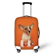 Puppy Dog Design Travel Accessories Suitcase Protective Covers 18-32 Inch Elastic Luggage Dust Cover Case Stretchable Protect