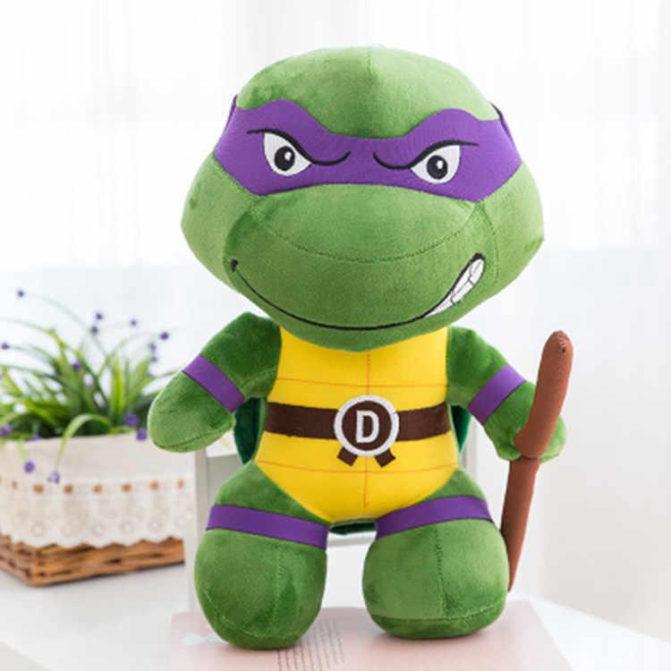 25 cm crianças brinquedos de pelúcia anime tartaruga figura de ação brinquedos de pelúcia presentes tartaruga 4 super soilders figurza pelúcia brinquedos para crianças
