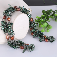 Natural freshwater pearl SG crystal fashion ladies multi layer necklace with all kinds of PROM engagement occasions