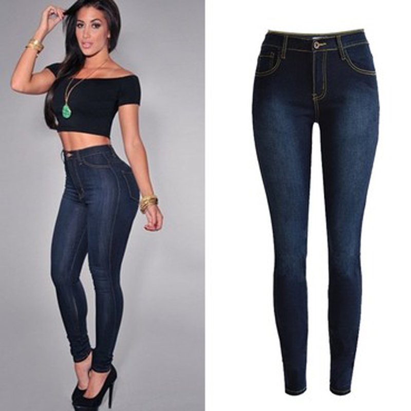 High waist ladies skinny jeans plus size ripped elasticity fashion women pants spring autumn winter trousers denim pockets cloth plus size pants the spring new jeans pants suspenders ladies denim trousers elastic braces bib overalls for women dungarees