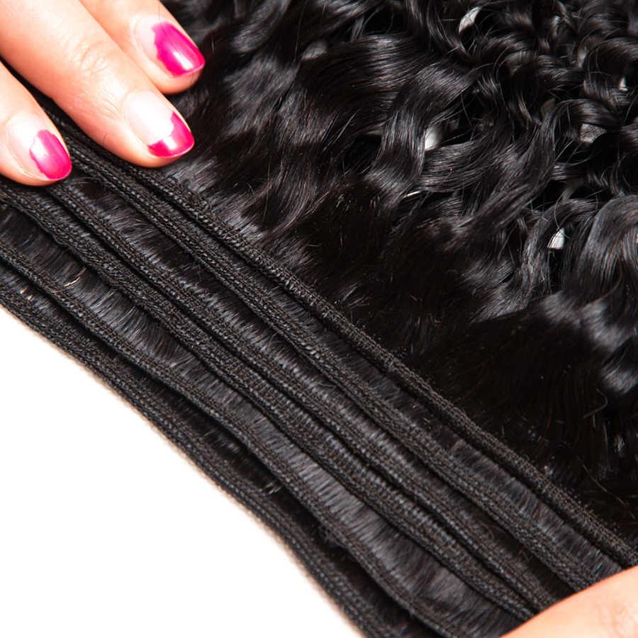 ALIPOP перуанский афро кудрявый вьющиеся переплетения человеческие волосы пучки волосы Remy Расширения натуральный черный цвет 1/3 шт. можно купить 3/4