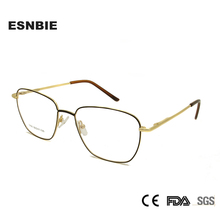 ESNBIE Full Rim Eyeglasses Frames Men Myopia Rectangle Mens Spectacles Frame Oculos De Grau Masculino Spring Hinge