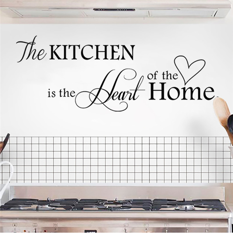 The Kitchen is Heart of the Home Letter Wall Sticker Home Decor DIY wall decals art home decor