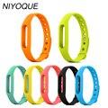Xiao mi banda 1 y 1 s pulsera correa de silicona para mi banda Smart pulsera accesorios reemplazable Smart band cinturón 8 colores