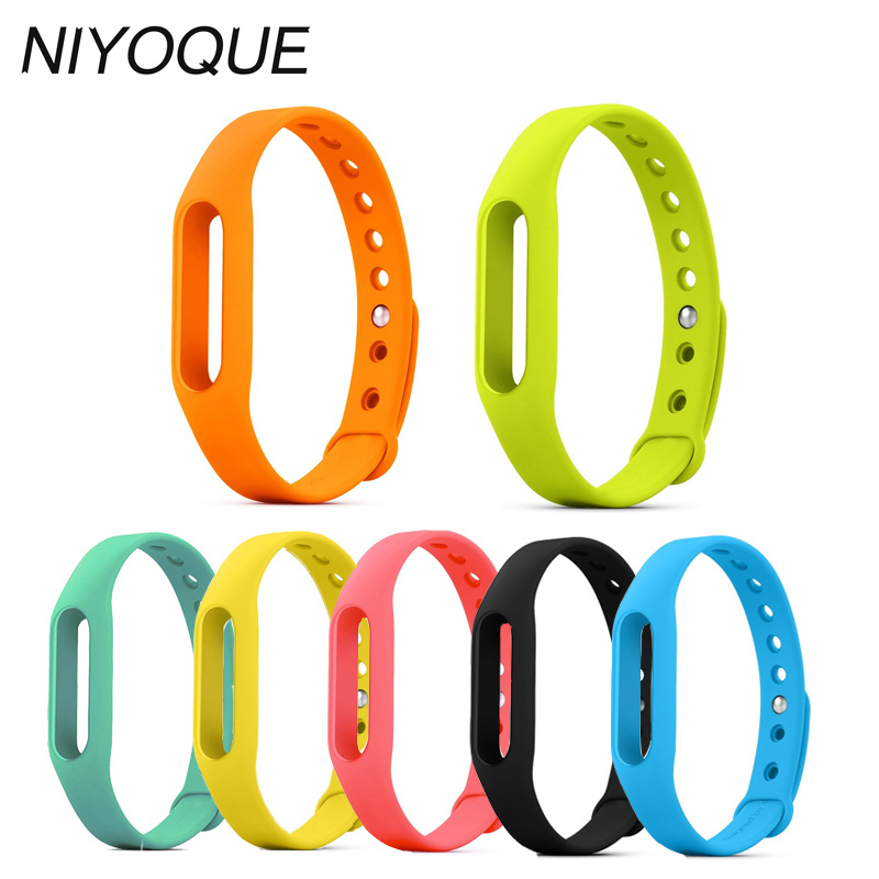 Xiaomi Miband 1& 1S Wristband Silicon Strap For Mi Band Smart Bracelet Accessories Replaceable Smart Band Belt 8 Colors tpu band with white round dot for xiaomi miband 1s