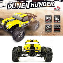 Super Off-road Remote Control Desert Truck Car 1:12 2.4G 4CH 4WD Full Scale Racing High Speed Model RC Car Toys With LED Light