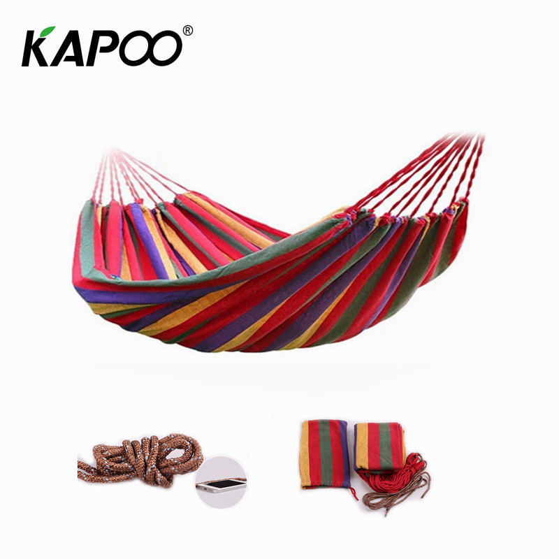 цена на Outdoor leisure canvas hammock outdoor furniture camping hammock picnic mat swing chair dormitory temporary leisure bed