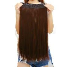 Feibin наращивание волос с зажимом синтетические волосы длиной