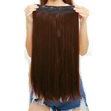 Feibin Clip In Hair Extension Synthetic Hair Piece Long 60cm 24 inches Heat Resistant no47 Free Shipping