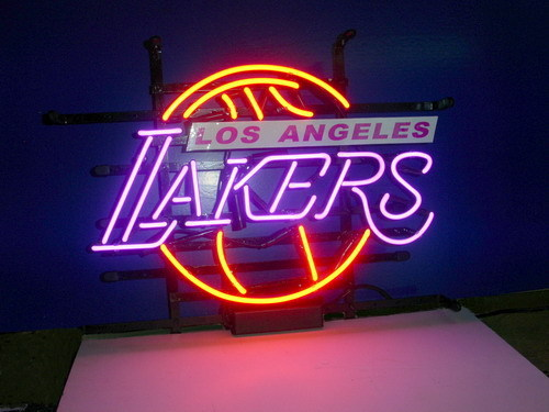 US $137 5  Business Custom NEON SIGN board For LOS ANGELES LAKERS  basketball GLASS Tube BEER BAR PUB Club Shop Light Signs 17*14