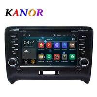 5.1.1 KANOR Android Quad core HD 1024*600 ekran Dotykowy 2 DIN Car DVD GPS Radio stereo Dla AUDI TT wifi 3G GPS BT SWC USB AUDIO