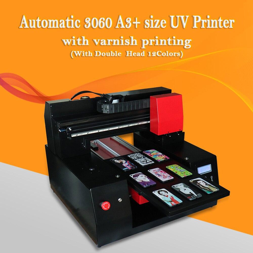 Vitesse rapide 3060 imprimante UV 12 couleurs avec doubles têtes d'impression pour Epson DX9 tête d'impression pour coque de téléphone/cuir/TPU/ABS/carte/Borad etc.