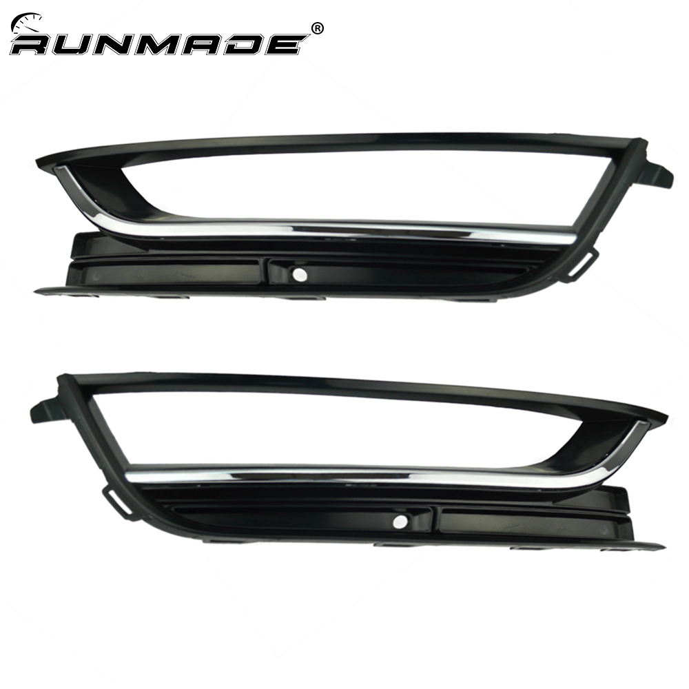 runmade Front Bumper Left and Right Fog Light font b Lamp b font Grille 56D853665 56D853666