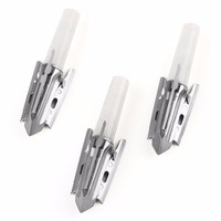 3pcs Broadheads 3 Blade Broad Arrow Heads Arrows Stainless Steel Tips 100 Grain For Hunting Free