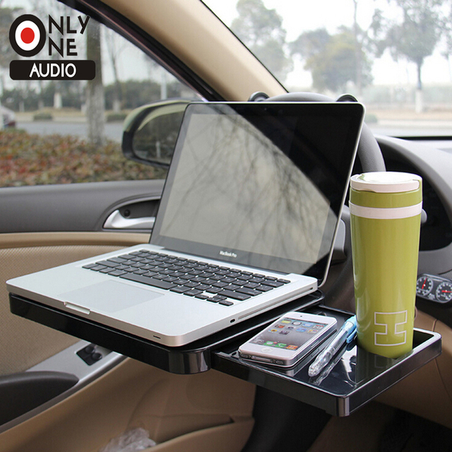 Only One Audio Car Portable Tray Folding Computer Desk With Drawer Steering  Wheel Seat Vehicular Dining