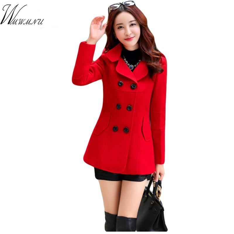 091e9071d6 casacos de inverno feminino Bayan Kaban Na Primavera De 2017 Nova Moda das  Mulheres de Lã casaco Dupla Breasted Elegante Bodycon Para O Casulo Longo  ...