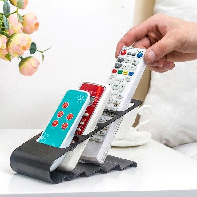 Gran oferta, organizador de TV/DVD/VCR, 4 marcos de almacenamiento a Control remoto, soporte para teléfono móvil, el más nuevo estuche organizador blanco y negro