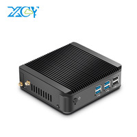 XCY Мини ПК Windows 10 Intel Core i3 4010Y i5 4200Y i7 4610Y двухъядерный безвентиляторный мини настольный ПК HDMI VGA WiFi неттоп HTPC