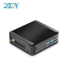 XCY Мини-ПК Окна 10 Intel Core i3 4010Y 4020Y i5 4200Y 4210Y dual-ядер безвентиляторный мини-компьютер HDMI VGA Wi-Fi неттоп pc 4 ГБ Оперативная память