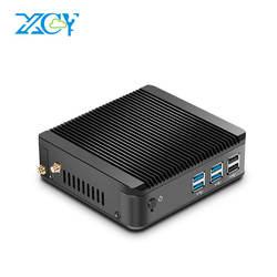 XCY мини-ПК Windows 10 Intel Core i3 4010Y i5 4200Y i7 4610Y двухъядерный безвентиляторный Миниатюрный Настольный ПК HDMI VGA WiFi неттоп HTPC