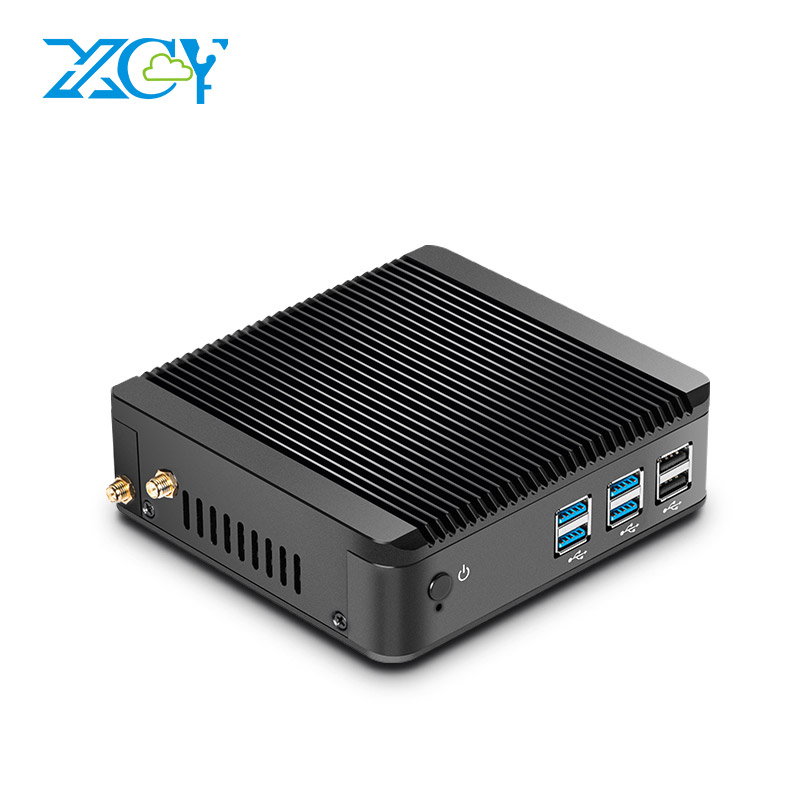 XCY Mini PC Windows Intel Core 10 i3 4010Y i5 4200Y i7 4610Y Dual Core sin ventilador Mini PC HDMI VGA WiFi Nettop HTPC