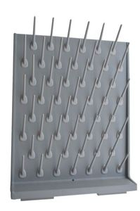 Image 3 - Brand New Lab Supply Wall Desk Drying Rack 52 Pegs Science Clean Education&Lab Use Support  Grey Color
