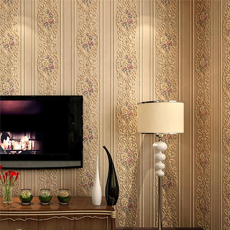 Retro garden flowers AB version of wallpaper 3D European-style bedroom living room desktop background wallpaper roll Beibehang