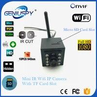 2.0mp 1080 pミニ屋内940nm ir-cut wifi ipカメラsdカードモーション検出ビデオセキュリティp2p onvif hdマイクロipカムwifi