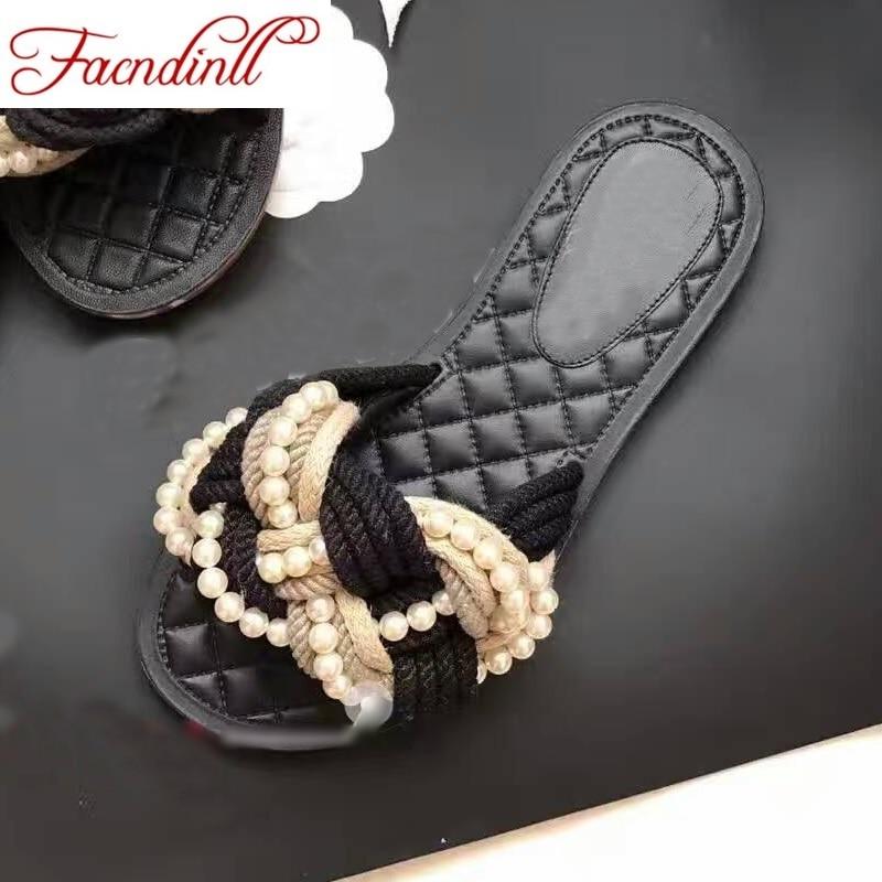 ФОТО 2017 New summer sandals woman beach slipper flip flops brand beading sandals women casual flat heel dress party shoes plus size