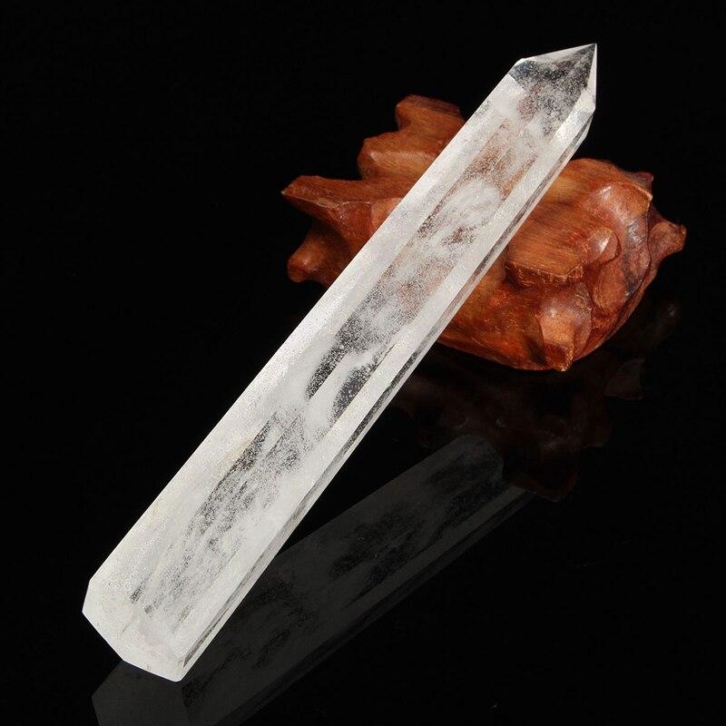 Best Price Large Natural Transparent Natural Clear Quartz Crystal Wands  Reiki Healing Gemstone Wands Home Decor DIY Crafts Gift