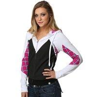 Women Girls Venom Hoodie Cosplay Spider Gwen Stacy Costume 3D Spiderman Superhero Zipper Jacket Hooded Sweatshirt Coat