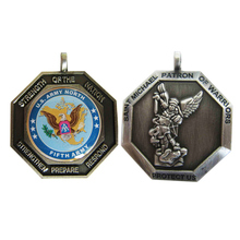 Custom Metal Us Amry North Military Medal with Printing Logo for Promotion  k200187