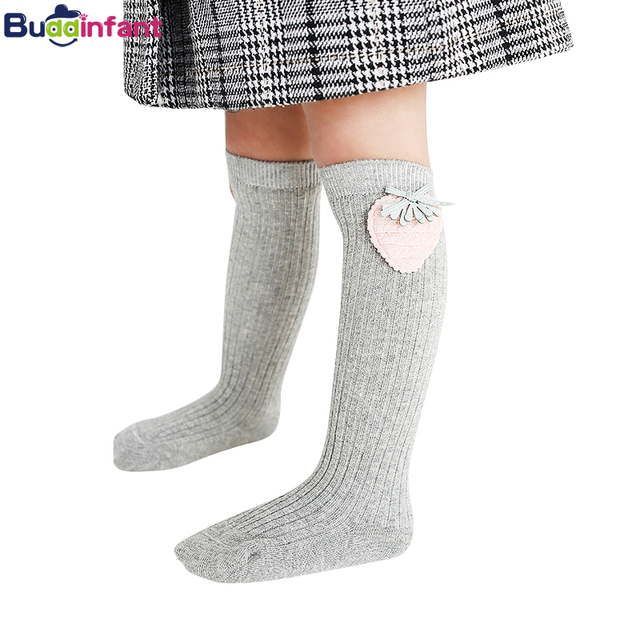 e91abda270a Children s Baby Girl Knee High Socks for Toddlers Kids Infant Girls Solid Cotton  Princess Long Sock Dress Ballet Sock leg warmer