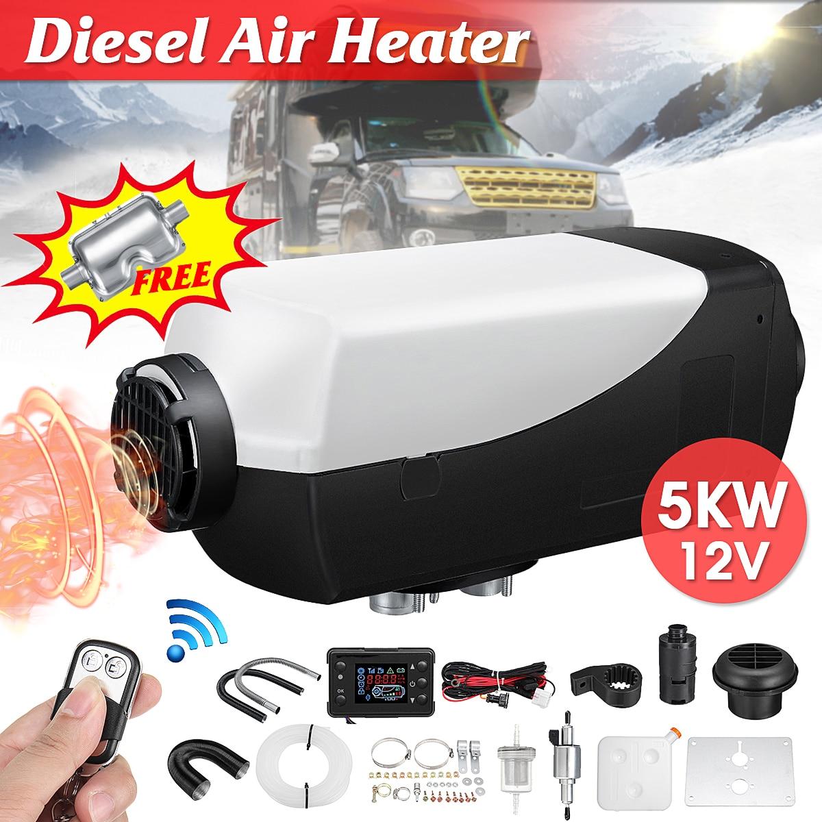 Radiateur de voiture 5KW 12 V Air Diesels Chauffe-chauffage de stationnement Avec À Distance Riscaldatore écran lcd Silencieux Pour Camions Bateaux Etc