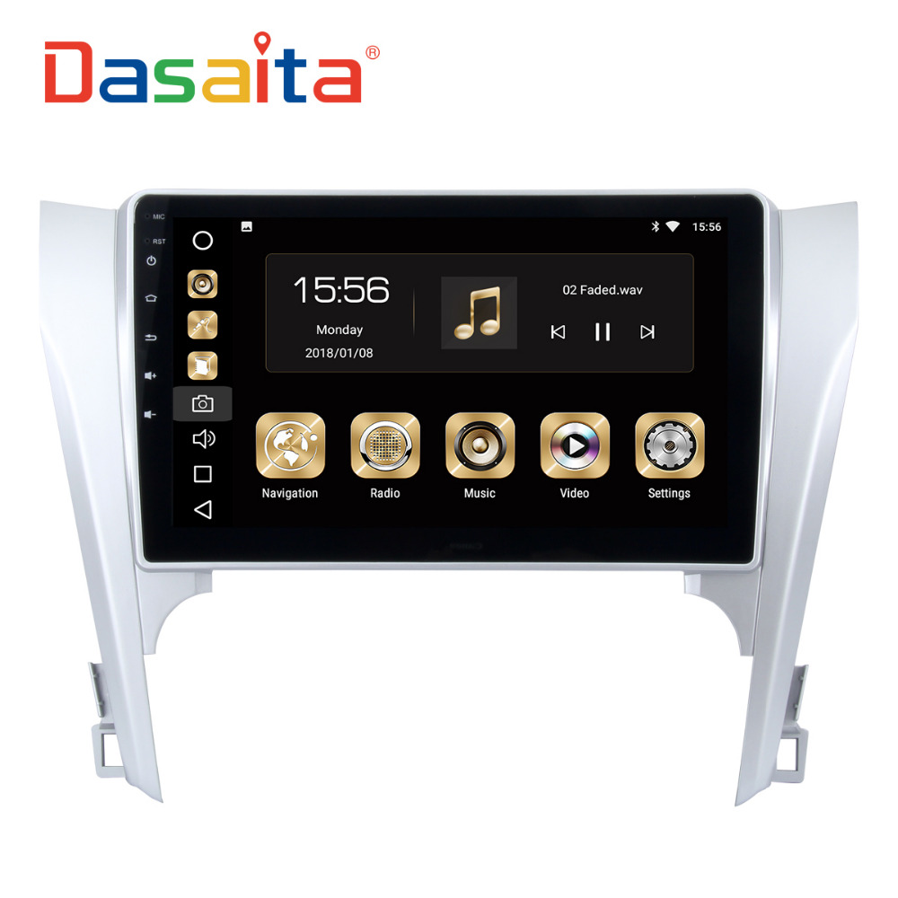 Dasaita 10.2 Android 8.0 Car GPS Radio Player for Toyota Camry 2012 2013 2014 with Octa Core 4GB+32GB Auto Stereo Multimedia
